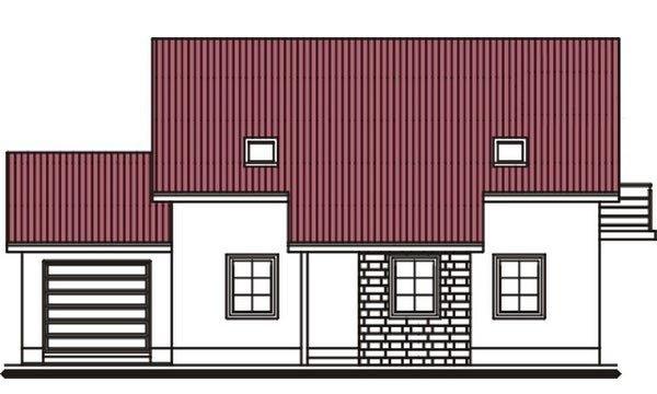Pohľad 1. - Projekt domu vhodný na dvojdom