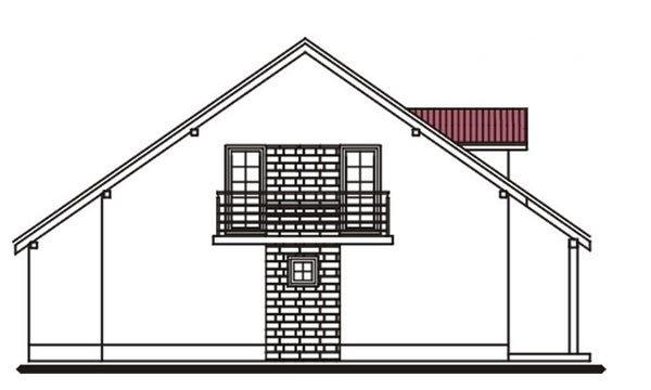 Pohľad 2. - Projekt domu vhodný na dvojdom