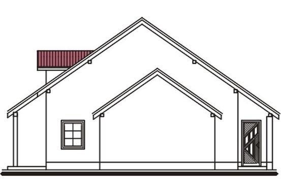 Pohľad 4. - Projekt domu vhodný na dvojdom