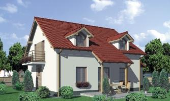 Projekt domu vhodný na dvojdom. Je možné ho realizovať bez garáže.