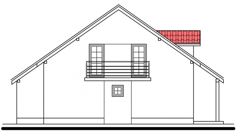 Pohľad 2. - Projekt domu vhodný na dvojdom. Je možné ho realizovať bez garáže.
