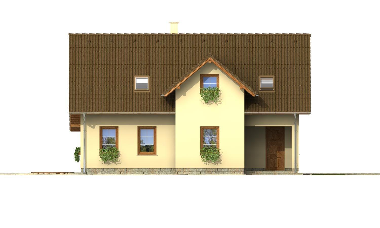 Pohľad 1. - Projekt domu so sedlovou strechou.