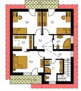 Pôdorys poschodia - PREMIER 194