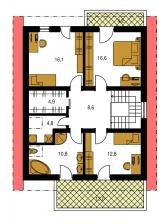 Pôdorys poschodia - PREMIER 195