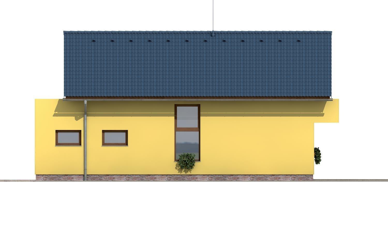 Pohľad 4. - Projekt poschodového domu so zimnou záhradou a garážou.