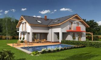 Veľký dom do tvaru L.