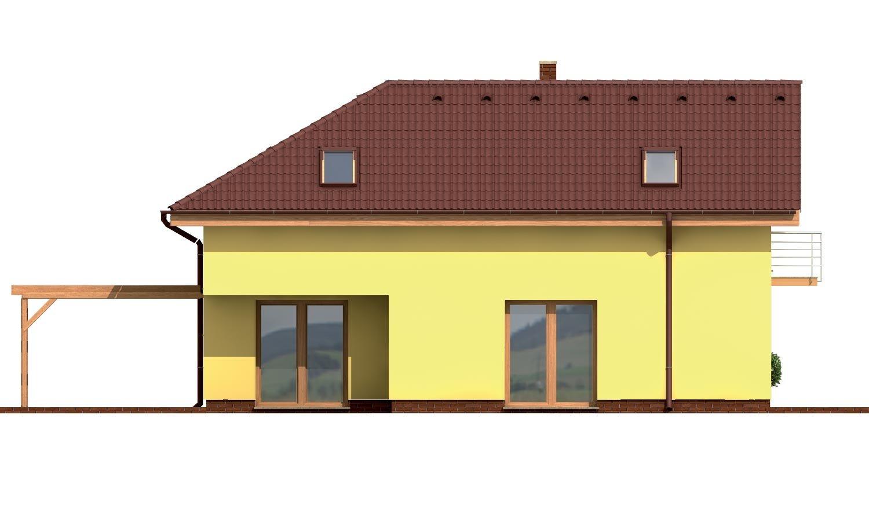 Pohľad 1. - Veľký dom do tvaru L.