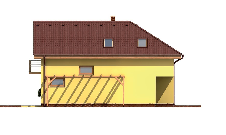 Pohľad 2. - Veľký dom do tvaru L.