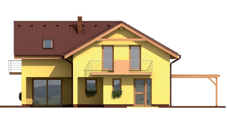 Pohľad 3. - Veľký dom do tvaru L.