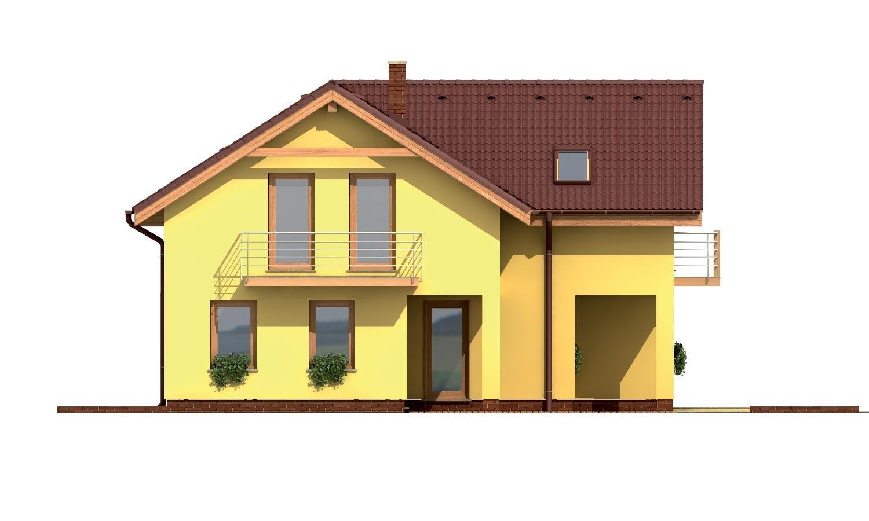 Pohľad 4. - Veľký dom do tvaru L.