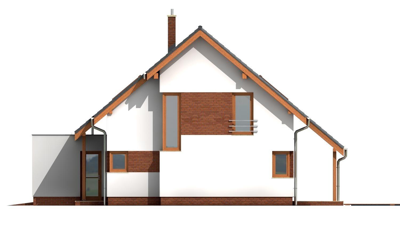 Pohľad 4. - Moderný dom s obytným podkrovím a garážou.