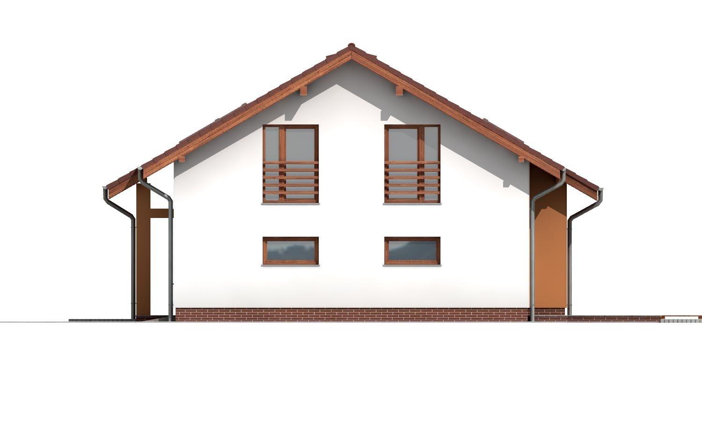 Pohľad 4. - Poschodový dom s veľkou garážou