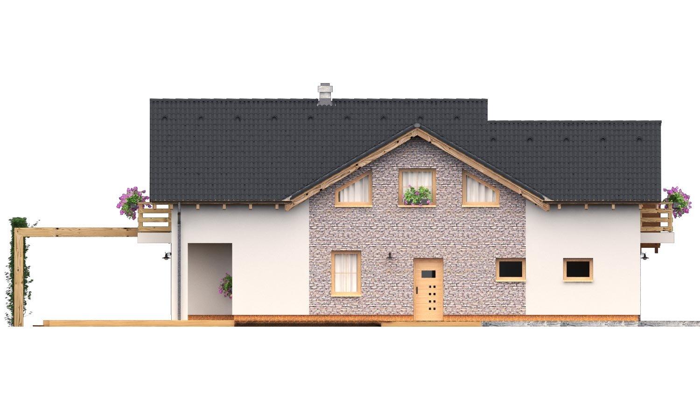Pohľad 4. - Rodinný dom s dvojgarážou