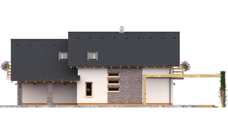 Pohľad 2. - Rodinný dom s dvojgarážou