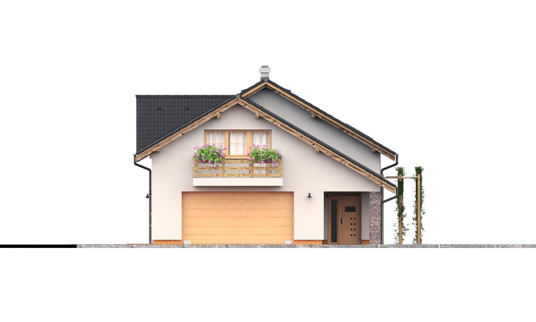 Pohľad 1. - Rodinný dom s dvojgarážou