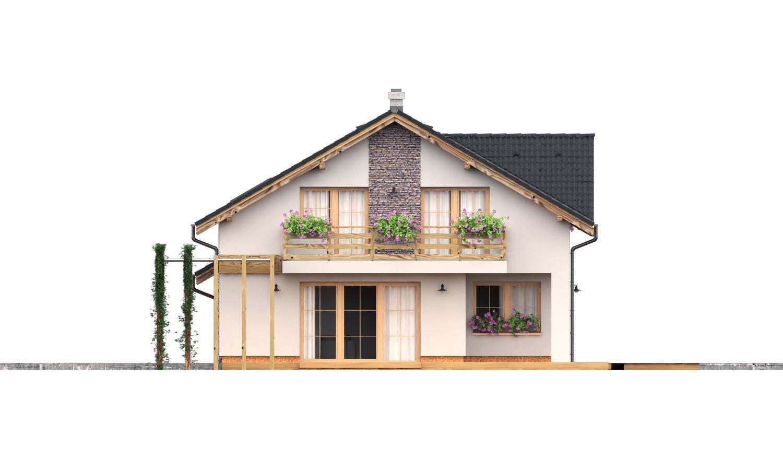 Pohľad 3. - Rodinný dom s dvojgarážou