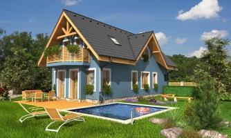 Poschodový dom na úzky pozemok.