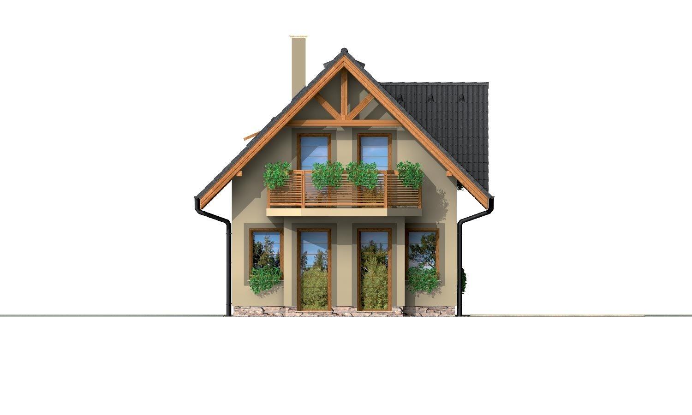 Pohľad 3. - Poschodový dom na úzky pozemok.