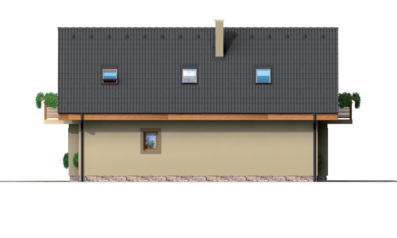 Pohľad 2. - Poschodový dom na úzky pozemok.