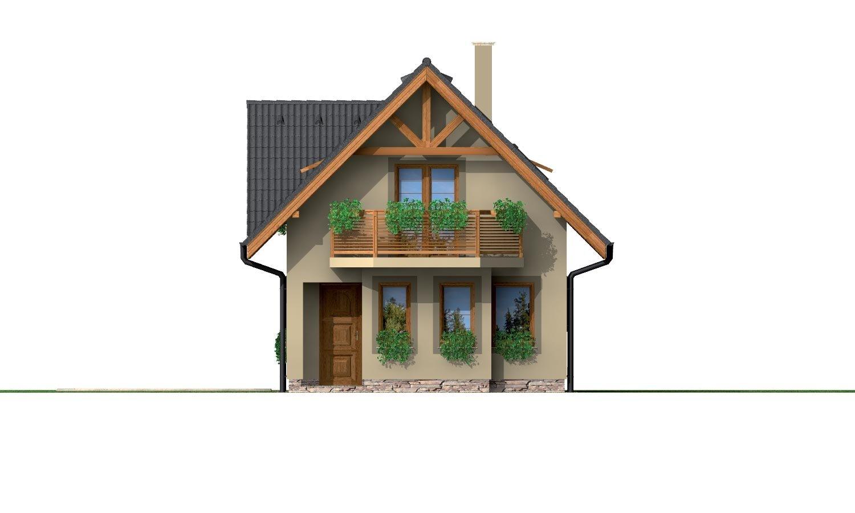 Pohľad 1. - Poschodový dom na úzky pozemok.