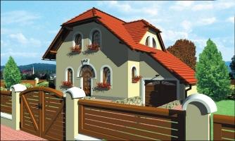Klasický 4-izbový rodinný dom s garážou.