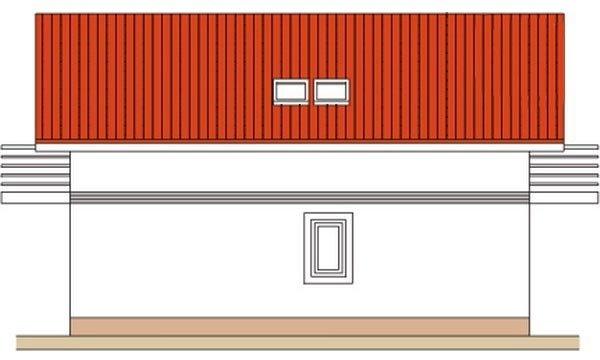 Pohľad 4. - Klasický poschodový rodinný dom s bočným schodiskom