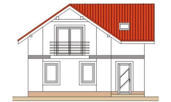 Pohľad 1. - Klasický poschodový rodinný dom s bočným schodiskom