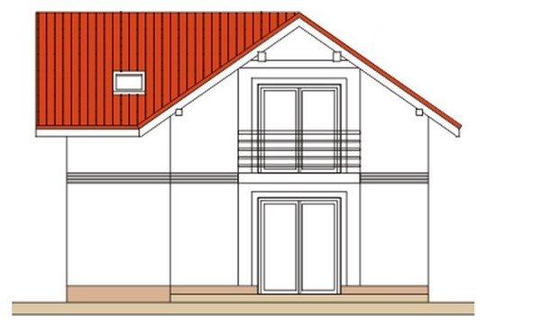 Pohľad 2. - Klasický poschodový rodinný dom s bočným schodiskom