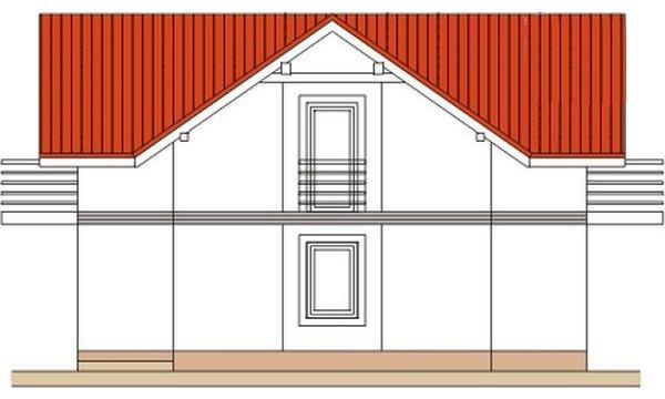 Pohľad 3. - Klasický poschodový rodinný dom s bočným schodiskom