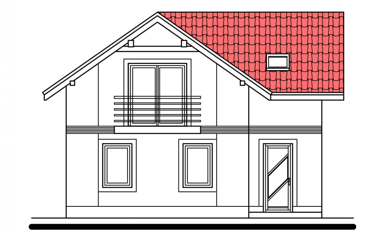 Pohľad 1. - Klasický poschodový rodinný dom s bočným schodiskom.
