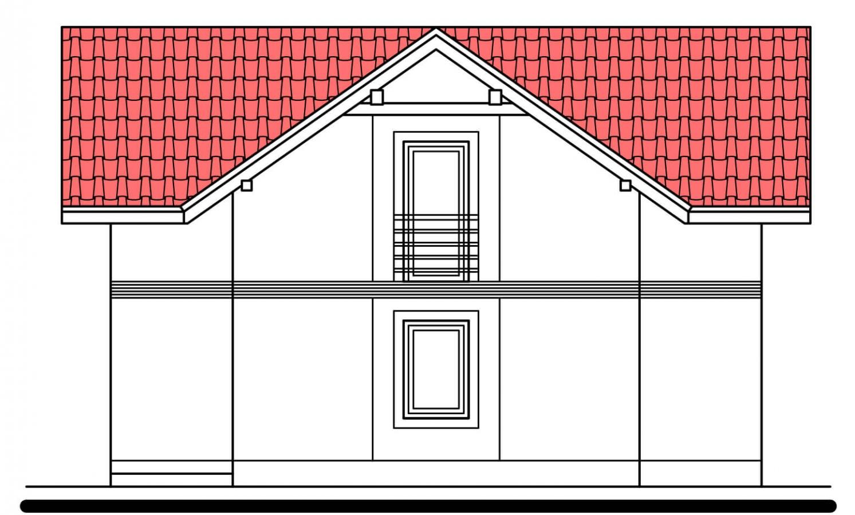 Pohľad 2. - Klasický poschodový rodinný dom s bočným schodiskom.