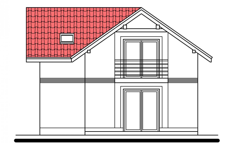 Pohľad 3. - Klasický poschodový rodinný dom s bočným schodiskom.