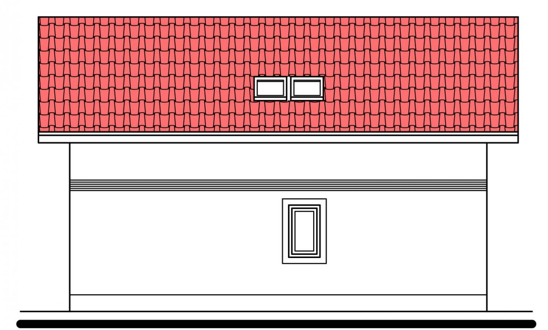 Pohľad 4. - Klasický poschodový rodinný dom s bočným schodiskom.