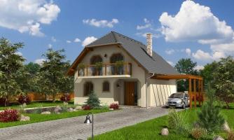 Klasický podkrovný dom s terasou