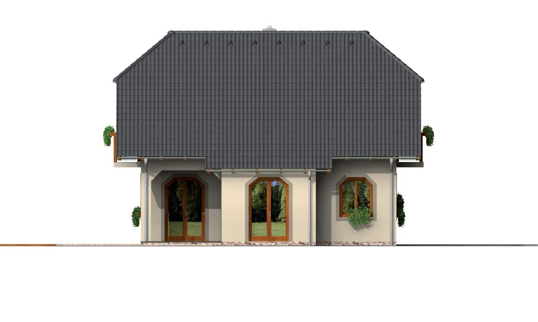 Pohľad 2. - Klasický podkrovný dom s terasou.