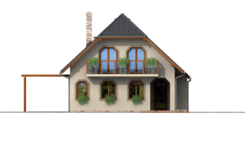 Pohľad 3. - Klasický podkrovný dom s terasou.