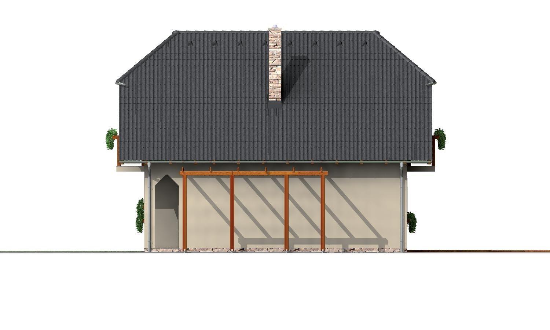 Pohľad 4. - Klasický podkrovný dom s terasou.