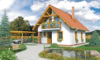 Malý dom vhodný aj ako záhradná chata.