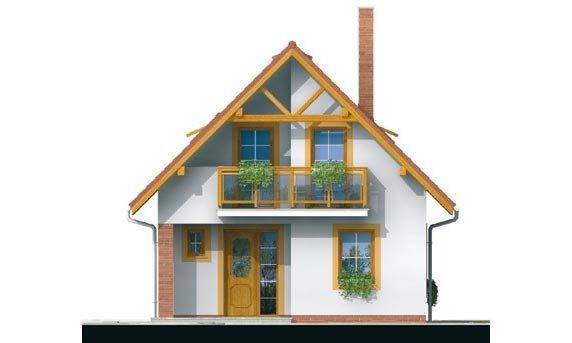 Pohľad 1. - Malý dom vhodný aj ako záhradná chata.