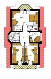 Pôdorys poschodia - PREMIER 90