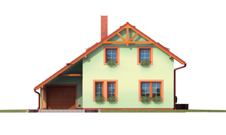 Pohľad 1. - Poschodový dom s izbou na prízemí