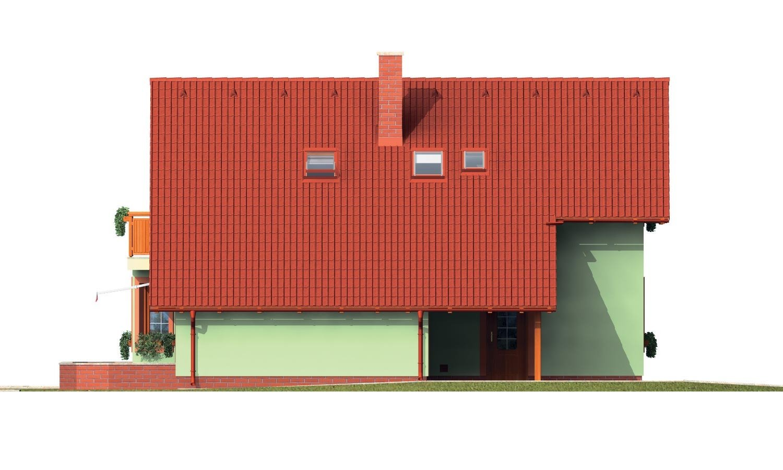 Pohľad 2. - Poschodový dom s izbou na prízemí.