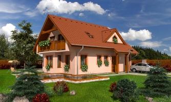 Poschodový dom s izbou na prízemí
