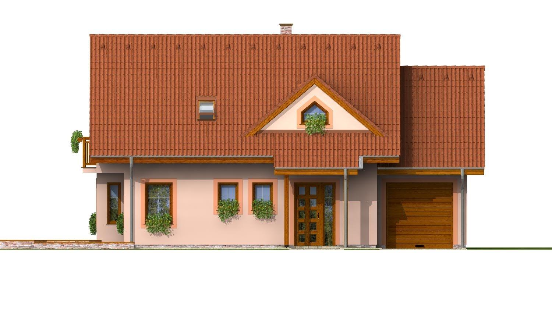 Pohľad 1. - Poschodový dom so suterénom a izbou na prízemí.