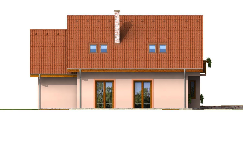 Pohľad 3. - Poschodový dom so suterénom a izbou na prízemí.