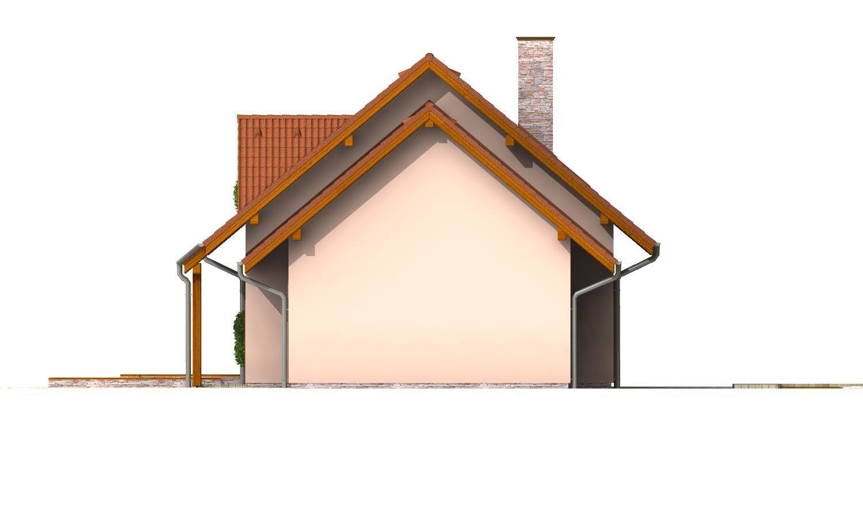 Pohľad 4. - Poschodový dom so suterénom a izbou na prízemí.