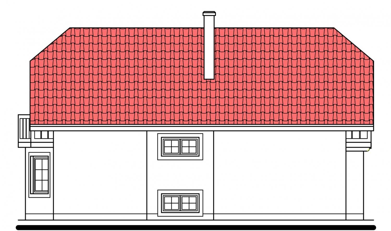 Pohľad 2. - Klasický dom s podpivničením.