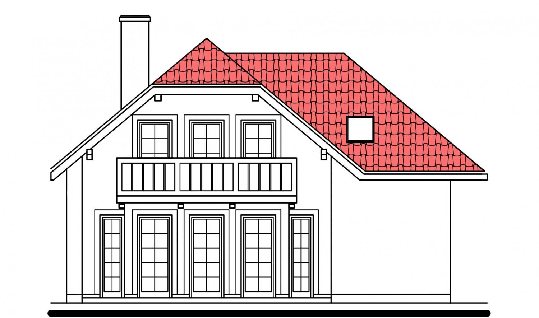 Pohľad 3. - Klasický dom s podpivničením.