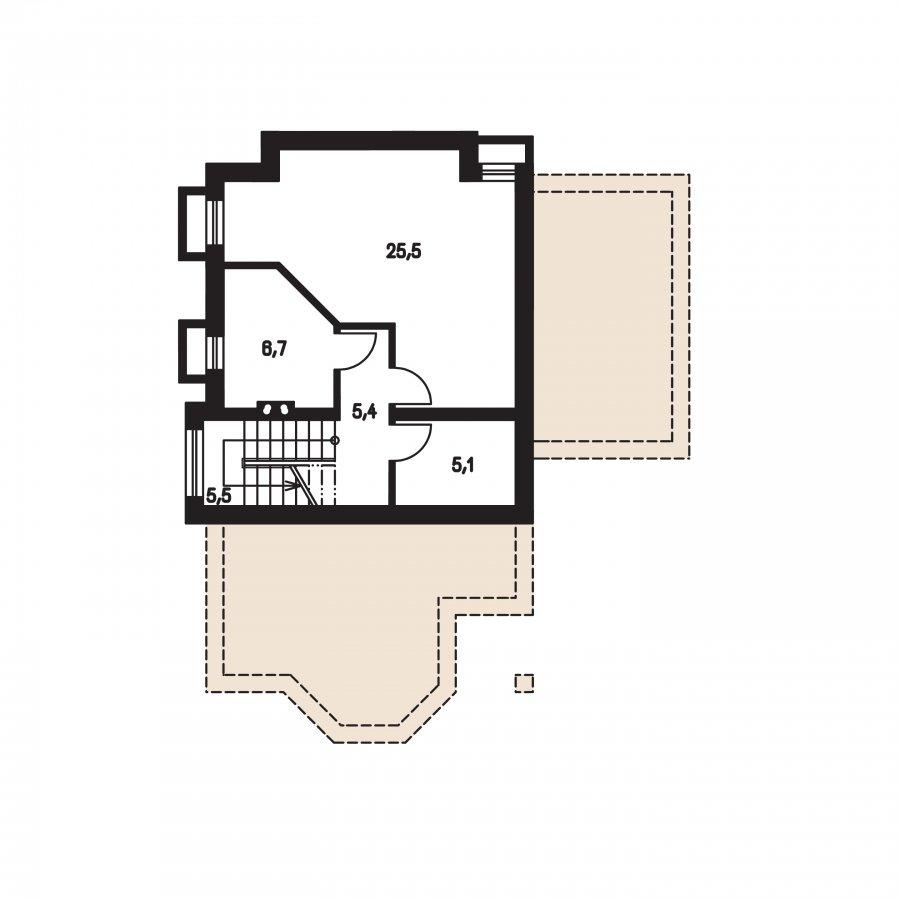 Pôdorys Suterénu - Klasický dom s podpivničením