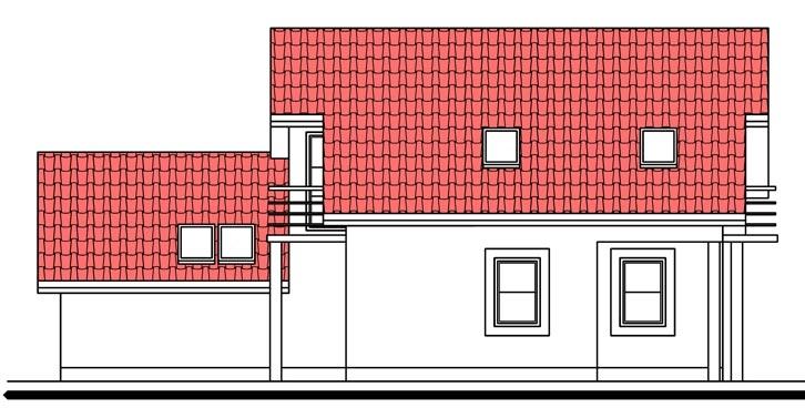 Pohľad 4. - Dom s pracovňou alebo izbou na prízemí.